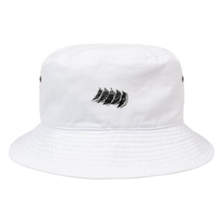 かよコーンショップのギョウザ帽 〜白黒mini〜 Bucket Hat
