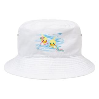 Sweet Cockatiels/浮き輪で海水浴 Bucket Hat