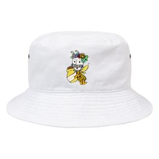 紳士もしゃひげ◆ハニー Bucket Hat