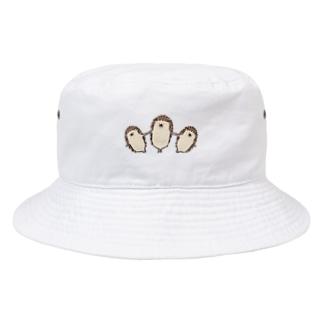 ハリネズミのれもさん【扇】 Bucket Hat