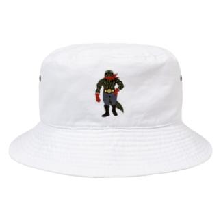 亜人のファイター(ベタ塗り) Bucket Hat