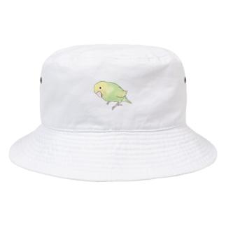 首傾げ スパングルセキセイインコちゃん【まめるりはことり】 Bucket Hat