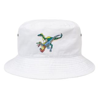 かっこいいりゅうくん(ヴェロキラプトル) Bucket Hat
