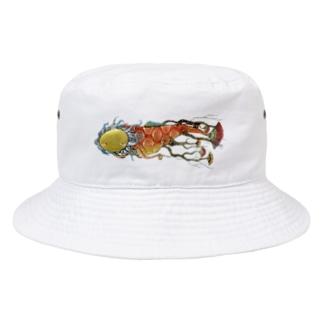 スーパーファンタジー絵描き 松野和貴の根魚 Bucket Hat