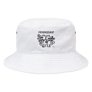 天明幸子 SUZURI  オフィシャルショップのfriendship Bucket Hat