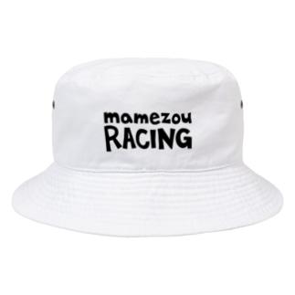 まめぞうレーシング 黒文字 Bucket Hat