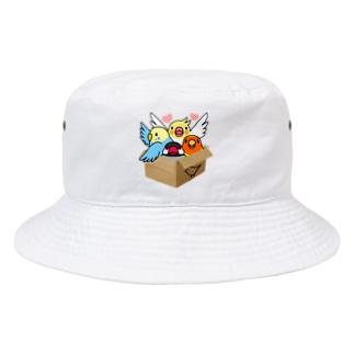 まめるりはことりの拾ってくださいインコ【まめるりはことり】 Bucket Hat