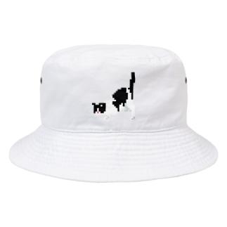 しりぽんねこ 2 Bucket Hat