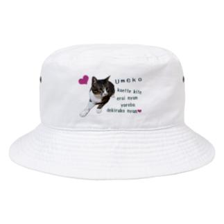 梅子、帰ってきて偉いにゃん Bucket Hat