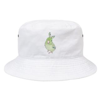まめるりはことりのお羽飾り マメルリハちゃん【まめるりはことり】 Bucket Hat