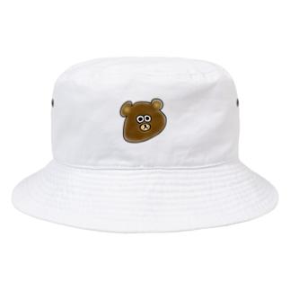 顔がのびてるクマ。 Bucket Hat