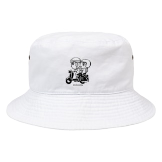 カッパつ野郎(スクーター黒) Bucket Hat