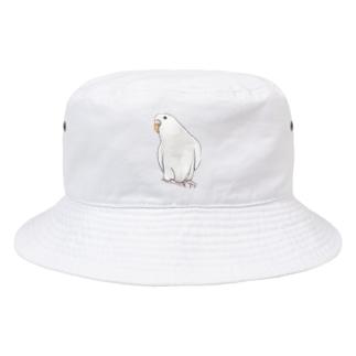 まめるりはことりのアルビノセキセイインコちゃん【まめるりはことり】 Bucket Hat