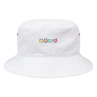 喜怒哀楽猫 Bucket Hat