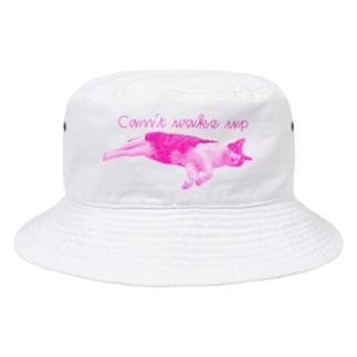 起きれん猫 Bucket Hat