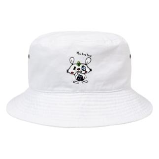 悪巧みするうさぎ Bucket Hat
