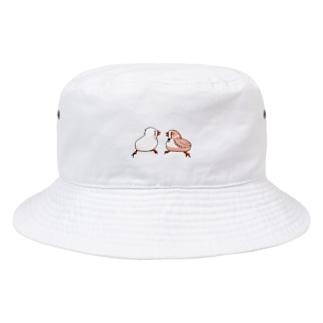 キンカチョウのにらめっこ Bucket Hat