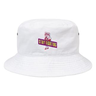 STAY FIGHTING 2 WHITE Bucket Hat