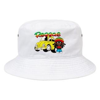 レゲエ・ボーイと車 Bucket Hat