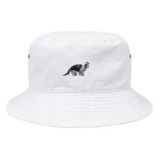 フリーズする猫 Bucket Hat