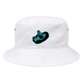 黒椎茸 Bucket Hat
