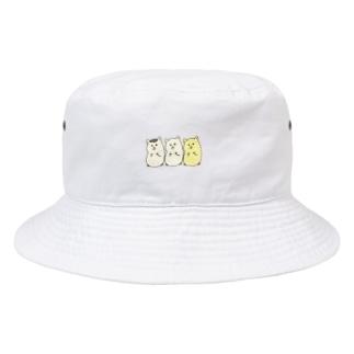 3匹のハムちゃん Bucket Hat