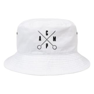 GO Camp × ペグ バケットハット White Bucket Hat