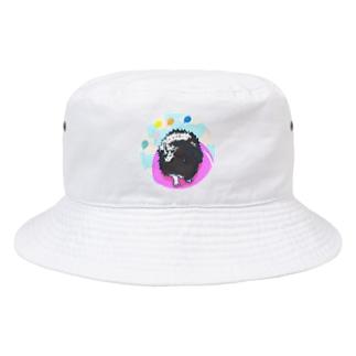 風船に乗っているモルモット04 Bucket Hat