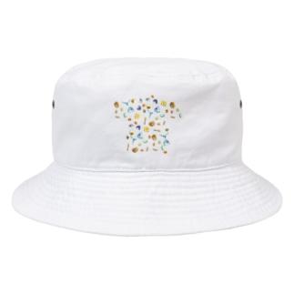 顕微鏡で見た砂粒や貝殻のイラスト Bucket Hat