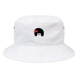 あかりのおみせのりぼんの女の子 Bucket Hat