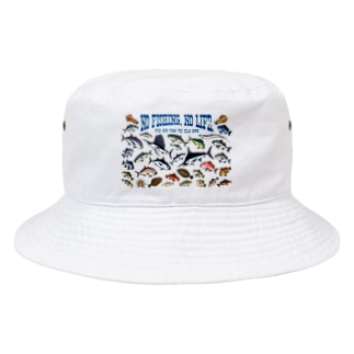 Saltwater fish_3CW_BG Bucket Hat