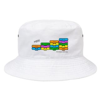 MIDIドクロ -整列ピコピコ Bucket Hat