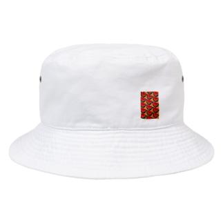 スイカ(オレンジ) Bucket Hat