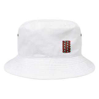 スイカ(水色) Bucket Hat