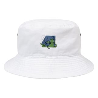 冒涜的な猫ルフ(色付き) Bucket Hat
