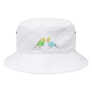 セキセイインコ ちょこんとせきせいんこーず【まめるりはことり】 Bucket Hat