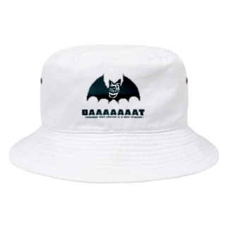 Thank you for your timeのBAT 笑顔が決め手 Bucket Hat