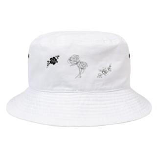モノクロ_r:mn Bucket Hat