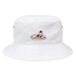 まめるりはことりのいつでもなかよし文鳥【まめるりはことり】 Bucket Hat