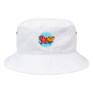 ヒトデとクラゲ Bucket Hat