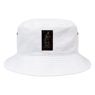 Akieem Zawadi's SHOPのSurfing  on the Milky Way Bucket Hat