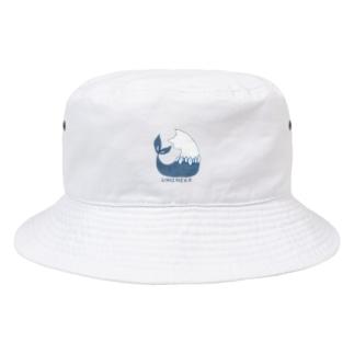 ちょぼろうSHOPのウミネコ(線あり) Bucket Hat