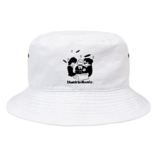 thank to Music Bucket Hat