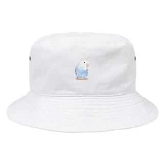 おしゃまな止まり木セキセイインコちゃん【まめるりはことり】 Bucket Hat