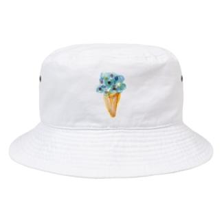 青いアイスクリーム Bucket Hat