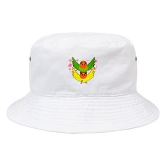 まめるりはことりのラブリーコザクラインコ【まめるりはことり】 Bucket Hat