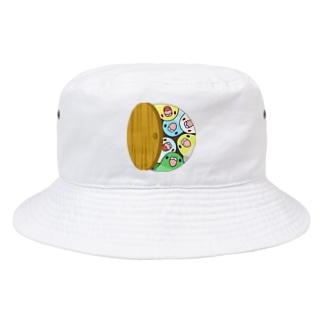 三密です!むちむちマメルリハさん【まめるりはことり】 Bucket Hat