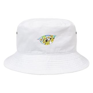 三密です!むちむちセキセイインコさん【まめるりはことり】 Bucket Hat