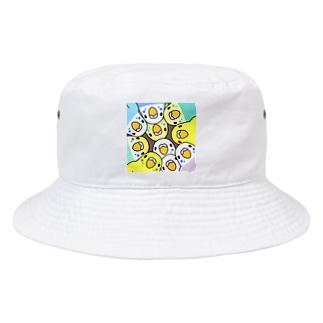 みっちりむっちり過密セキセイインコさん【まめるりはことり】 Bucket Hat