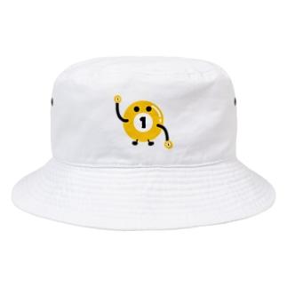 ビリヤードのビリちゃん Bucket Hat